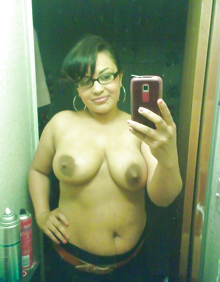 Top-Half Naked Latina Selfies