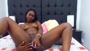 Ebony Girl Records Herself During Masturbation